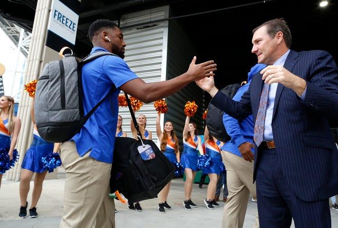 Florida defensive back Quincy Lenton, left, has entered the NCAA transfer portal.