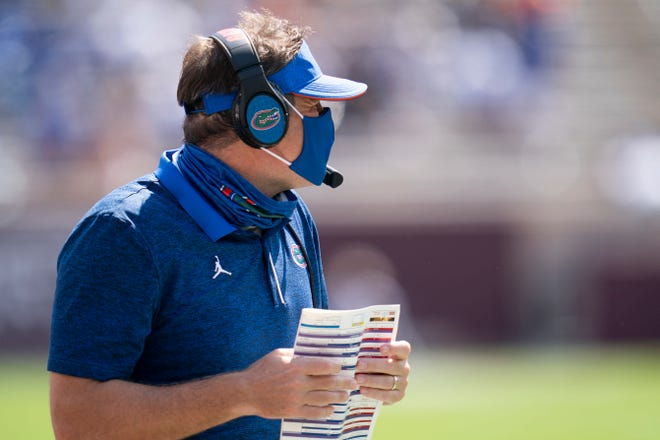 "Over the past week, Florida coach Dan Mullen had five players test positive for COVID-19. He said Monday the he finds out about Thursday night at 11:30 who is probably going to be playing in that week's game. ""That can always change on Friday,"" he said."