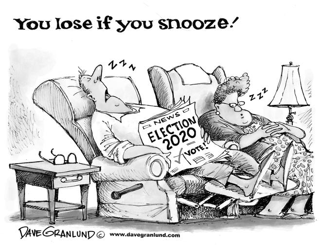 You lose if you snooze through election