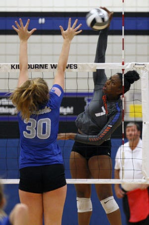 London Davis is the first Orange girls volleyball player to surpass 1,000 career kills. She has led the Pioneers to the OCC-Central Division title and the No. 1 seed for the Division I district tournament.