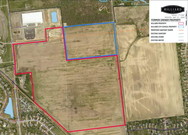 The Hilliard school board on Oct. 12 unanimously approved an option-to-buy contract with the city of Hilliard for the sale of 20 acres on land known locally as the Grener tract. The sale is contingent upon the city selling land it already owns on part of the same tract between Cosgray and Leppert roads and the 20 acres owned by the district, said board member Paul Lambert. The city appears to have a buyer in Amazon Web Services, according to legislation expected to be introduced Monday, Oct. 26, by Hilliard City Council.