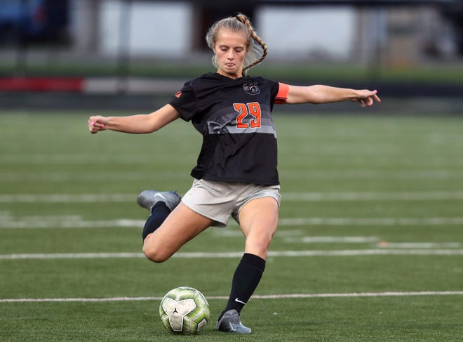 Hannah Halstead helped the Delaware Hayes girls soccer team capture its first league title. The Pacers finished 7-0 in the OCC-Capital Division and are now preparing for the Division I district tournament.