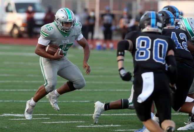 Ed Worthen and Dublin Scioto play Big Walnut in a Division II, Region 7 playoff game Friday, Oct. 16. Scioto defeated Big Walnut 15-14 on Oct. 2 on the final play when quarterback Amare Jenkins connected with Xavier Lopes for a 36-yard touchdown pass.