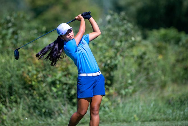 Berlin freshman Mia Raines shot a 73 in the Division I district tournament Oct. 13 at New Albany Links to qualify for state Friday, Oct. 23, and Saturday, Oct. 24, at Ohio State's Gray Course.