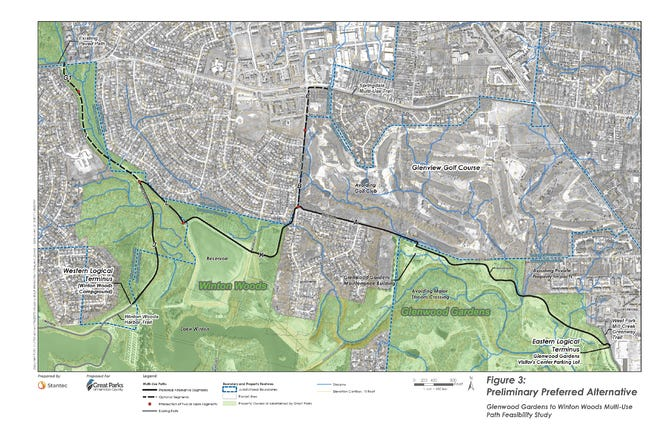 The first phase of the Glenwood Gardens to Winton Woods Trail plan is now underway.