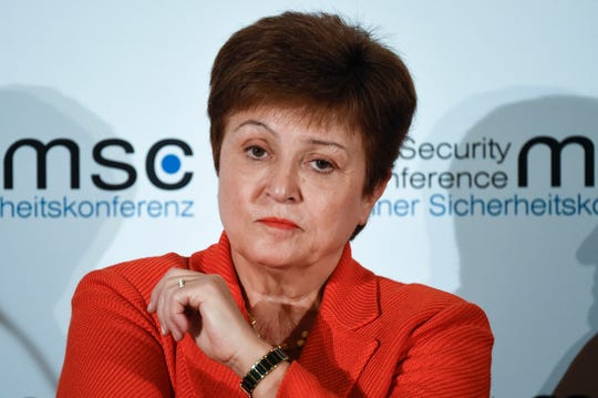 In this Feb. 14, 2020, file photo, Kristalina Georgieva, Managing Director of the International Monetary Fund, attends a session on the first day of the Munich Security Conference in Munich, Germany.