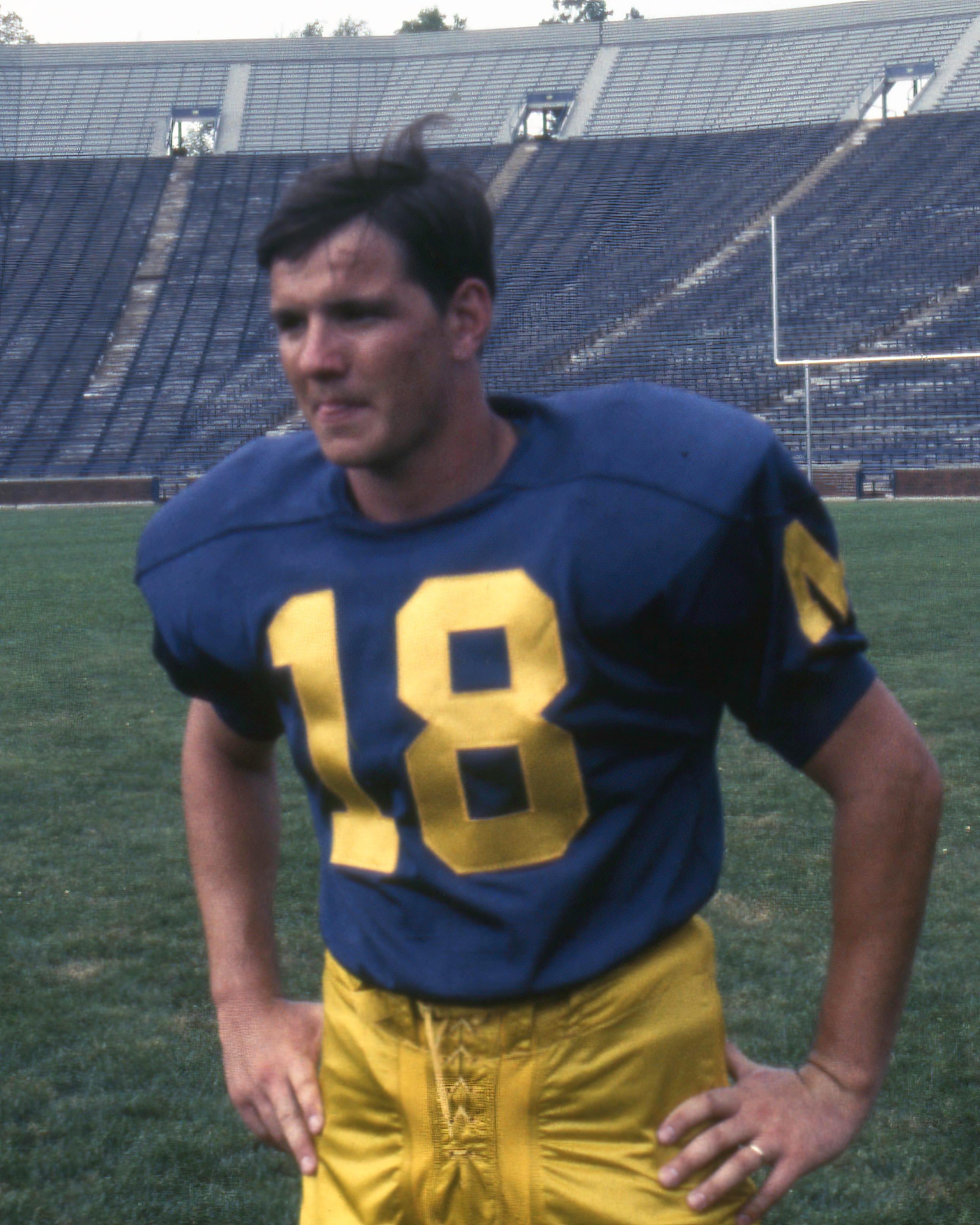 John Gabler as a University of Michigan football player in 1968.