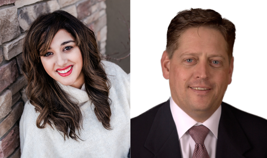 Yara Zokaie (left) and Mike Lynch (right) are running to represent Colorado House District 49.