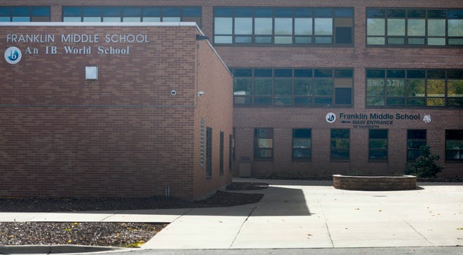 Franklin Middle School pictured on Tuesday, Oct. 13, 2020, in Green Bay, Wis.