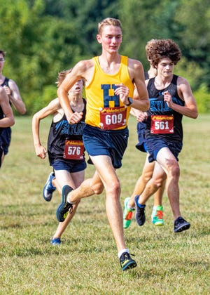 Riley Hough of Hartland leads the Livingston County cross country honor roll with a school-record 14:48.4.