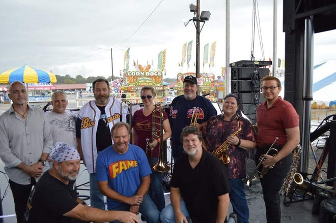 The Montgomery band Steel CuZn after their show Sunday at the Alabama National Fair.