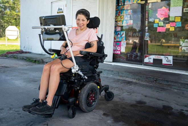 Paty Perez Williams poses for a portrait in front of her store, Paty's Drive Thru, in Immokalee on Tuesday, October 13, 2020. Paty spends time in the store with her daughter, Julie Stanford, during the day Monday through Friday