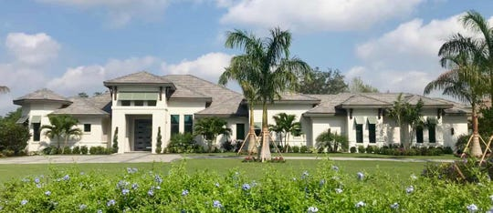 The St. Johns model, by Florida Lifestyle Homes, offers a golf course view.