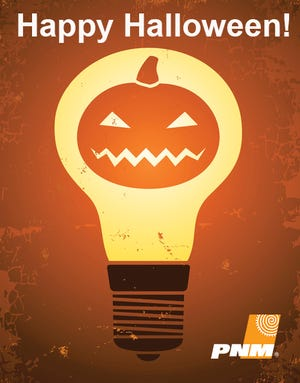 Burning light bulb inside the pumpkin