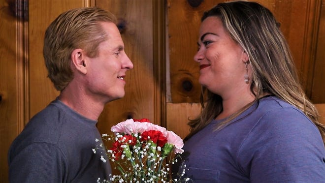 """Kevin Goss and Jennifer Maxwell are featured in a scene from the comedy short """"In the Gutter."""""""