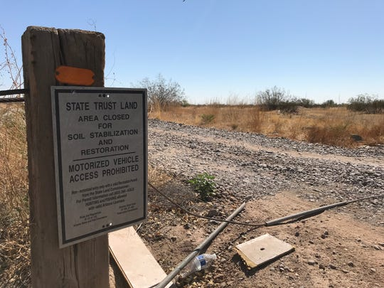 A large parcel of state trust land near Meridian and Elliot roads in Pinal County will be auctioned on Oct. 20, 2020. It is part of a vast tract known as Superstition Vistas.