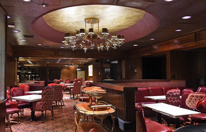 A photo of the Harrah's Steakhouse taken in 2020 after the closure of the Harrah's Reno hotel-casino.