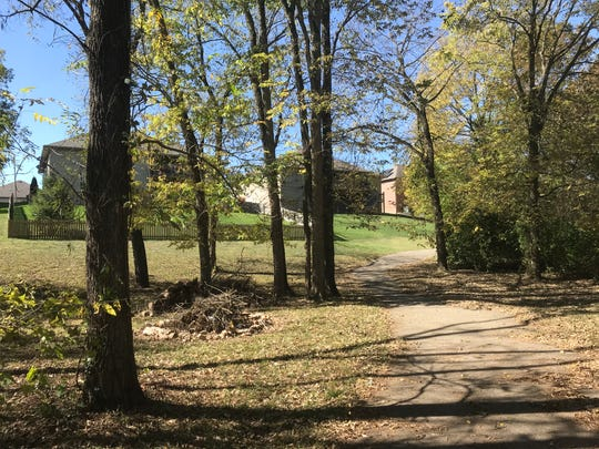 This is a different section of the same paved trail. It is part of the Vintage Hills subdivision and is owned by the homeowners association.