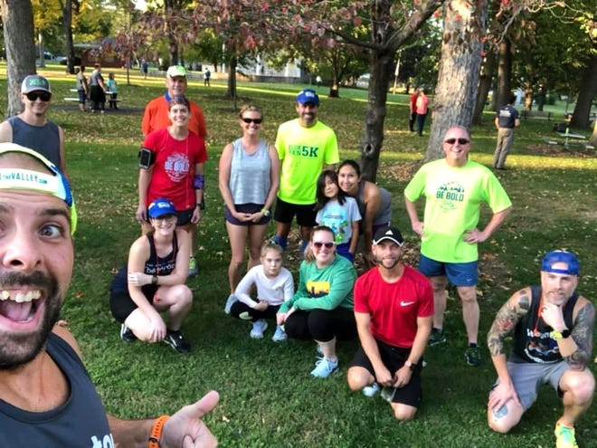 The Staunton Roadrunners meets every Wednesday night at Gypsy Hill Park for a group run.