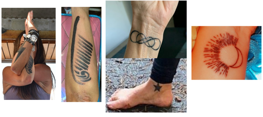 Tattoos on Holly Courtier, who went missing October 6, released on October 13, 2020.
