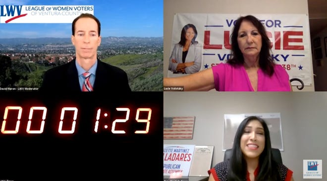 Candidates for the 38th State Assembly district participated in a virtual forum on Monday.