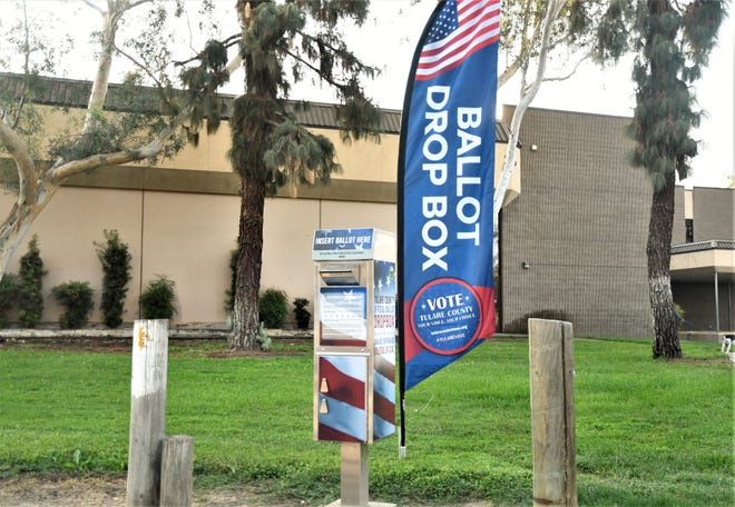 Visalia Branch Library is one of a dozen ballot drop box locations in Tulare County.