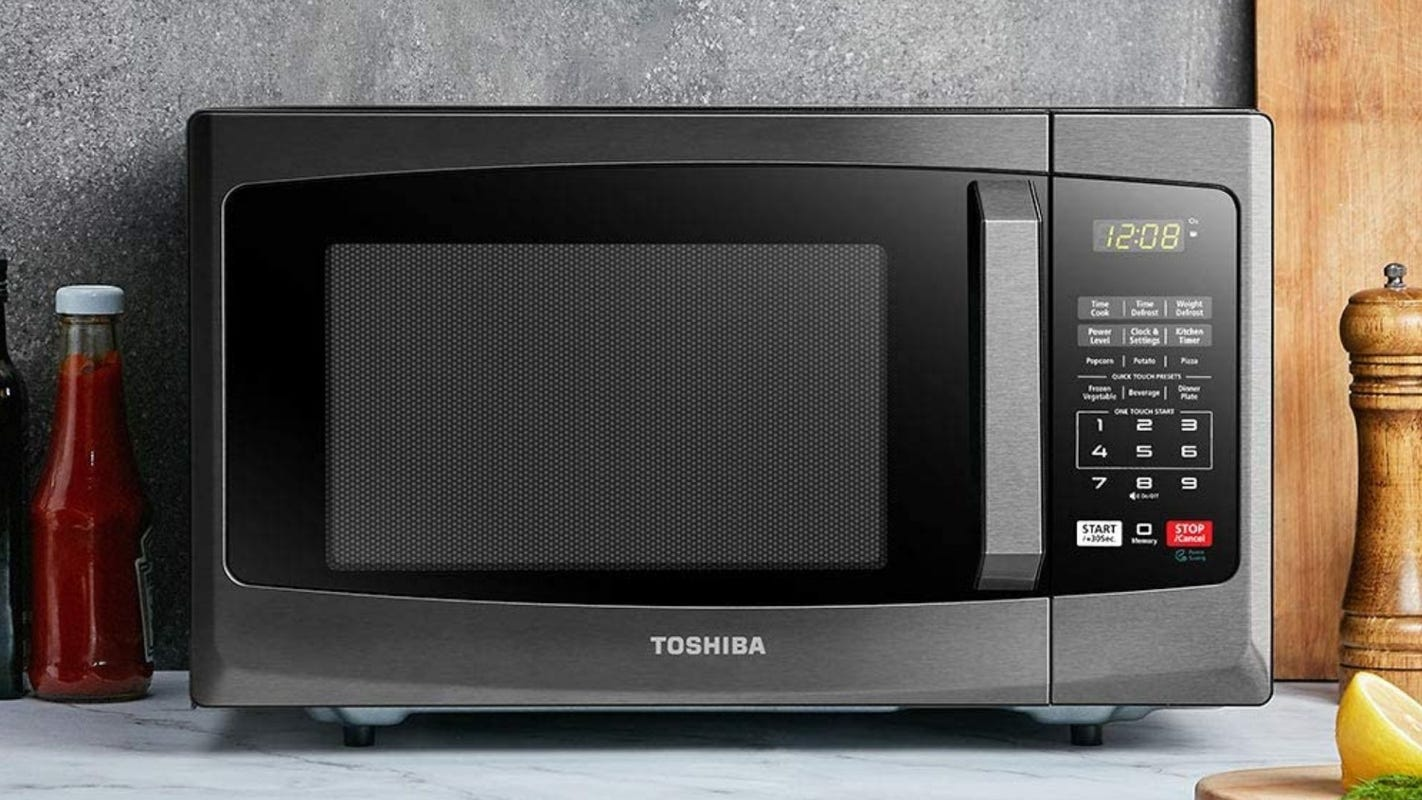 Toshiba makes some of our favorite microwaves—and they're on sale for Prime Day 2020
