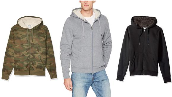 Amazon Prime Day 2020: Men's Sherpa Lined Zip Up Sweatshirt
