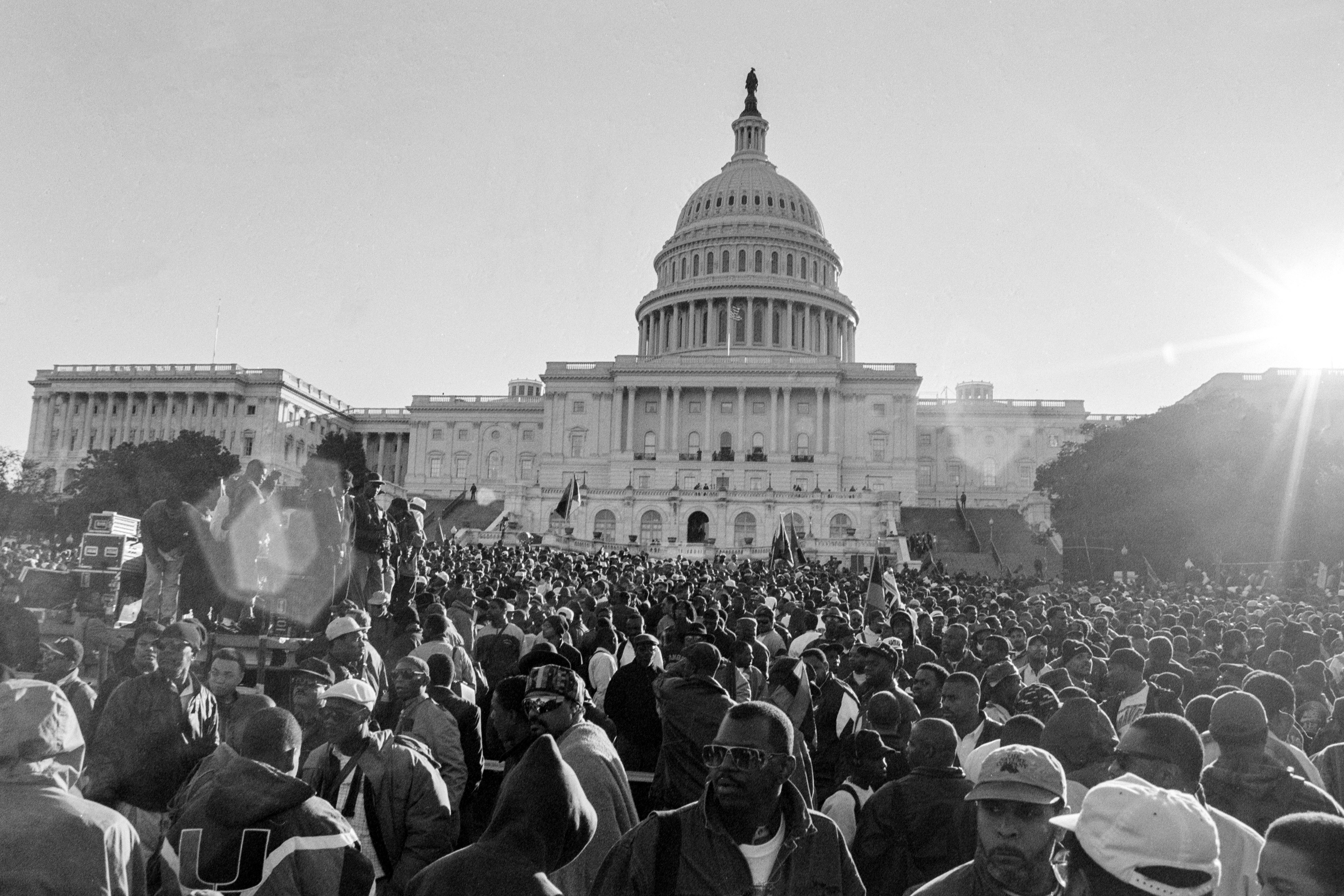 There never was an exact count of how many people attended the Million Man March, just conflicting crowd estimates that ranged from 400,000 to 1.9 million. A Boston University professor used photographs and computer analyses to estimate the crowd at 837,000.