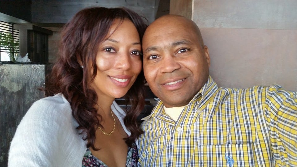 Anthony Ruff, right, with his wife Arlena Gilmore.