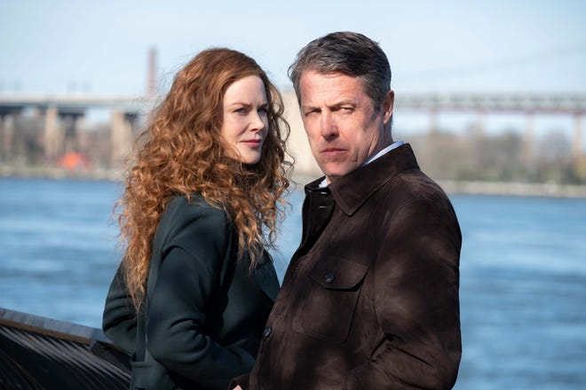 "Grace (Nicole Kidman, left) discovers that she hardly knows her own husband (Hugh Grant), who is charged with murder in HBO miniseries ""The Undoing."""