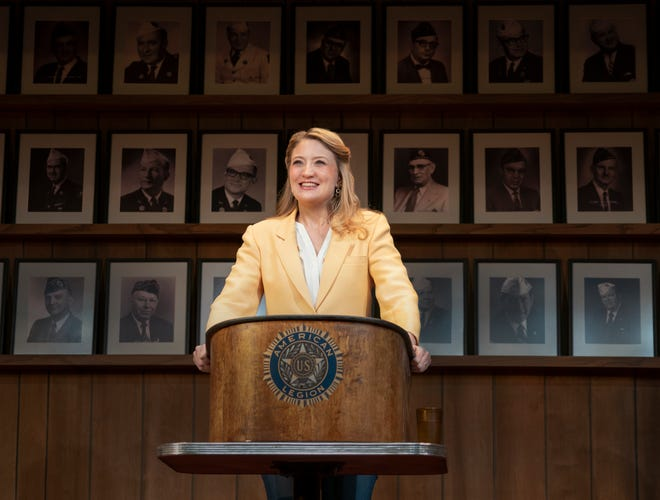"""This image released by Amazon Studios shows Heidi Schreck in a scene from """"What the Conststution Means to Me."""""""