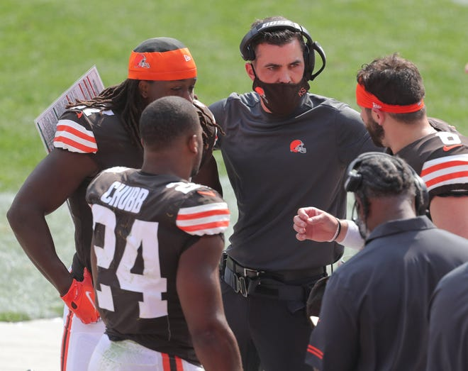 Browns coach Kevin Stefanski was named NFL Coach of the Year by the Associated Press. [Phil Masturzo/Akron Beacon Journal]