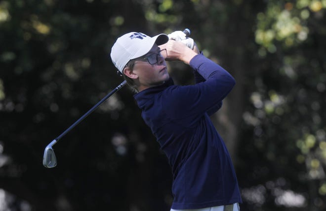 Wellington's Carsten Judge, shown competing in the 2019 Division III state golf tournament, leads a talented but inexperienced team into the 2020 state tournament Friday and Saturday at North Star Golf Club.