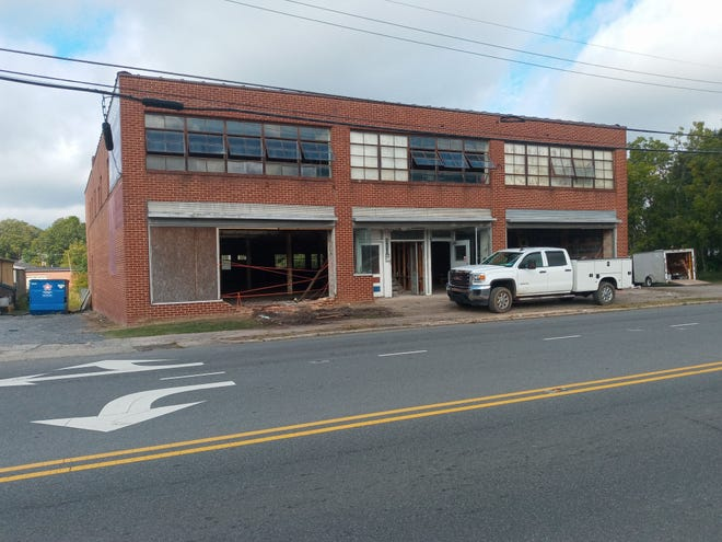The empty building at 516 S. Fayetteville St., Asheboro, is being restored by Brandon and Jenna McKenzie.