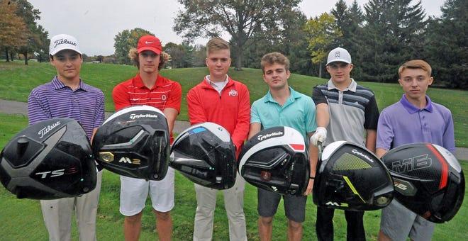 The triway golf team fro left, Gavin Stutz, Brock Tisko, Griffin Braun, Colton Snyder, Carter Schmid and Tyler Snyder.