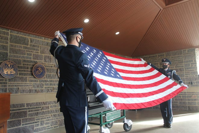 William Aaron Edgington Jr (Air Force)was buried with full military honors on Oct. 14 at Iowa Veterans Cemetery.