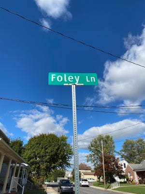 Foley Lane was named for the late Harry Foley, former mayor and Greencastle Borough Council member, earlier this year. More than 30 alleys are scheduled to be formally named under an ordinance borough council will consider at its Nov. 2 meeting.