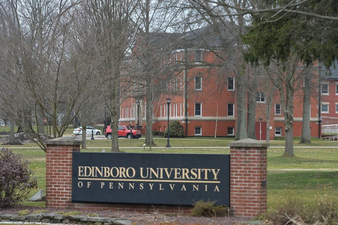 Reeder Hall at Edinboro University of Pennsylvania is shown in this March file photo.