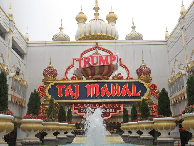 This Sept. 22, 2011, photo shows the Trump Taj Mahal casino in Atlantic City, New Jersey. The casino that was built by now-President Donald Trump in 1990 has been renamed the Hard Rock Hotel & Casino that opened June 28, 2018.