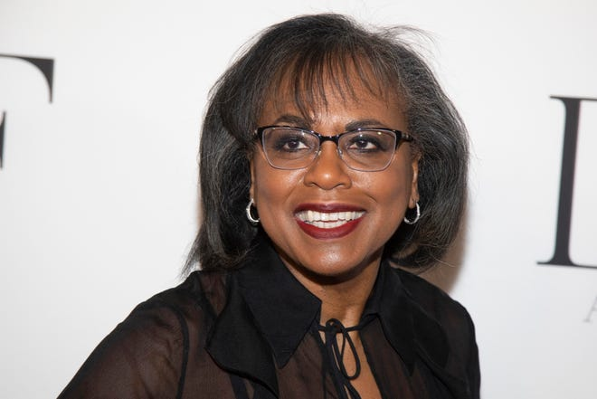 Anita Hill, shown in 2019 in New York, will be among the contributors to Book the Vote, an online initiative to provide information on the electoral system, voting registration and civic topics.