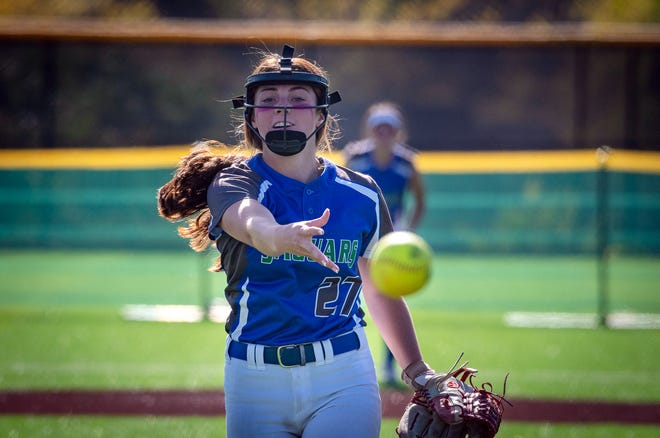 Blue Springs South freshman pitcher Abbie Wilhelm said she felt a little nervous getting the start in the Jaguars' Class 5 District 7 first-round game, but she shut down Raytown on two hits and nine strikeouts in a 13-0 five-inning win.