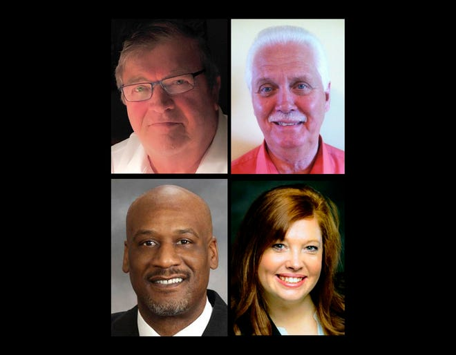 The 2020 Des Moines County Supervisor candidates are, clockwise from top left, Bob Beck, Jim Cary, Shane McCampbell and Nina Covert.