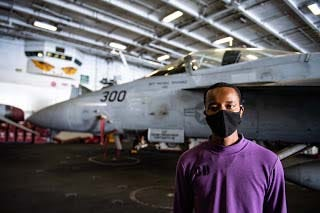 Aviation Boatswain's Mate (Fuels) Airman Caleb Freeman, a native of Jacksonville and Northside High School graduate, is serving aboard the Navy's only forward-deployed aircraft carrier USS Ronald Reagan (CVN 76) during maritime security and stability operations in the Indian Ocean. The Ronald Reagan carrier strike group routinely operate throughout the Indo-Pacific in support of U.S. commitments to regional allies and partners.