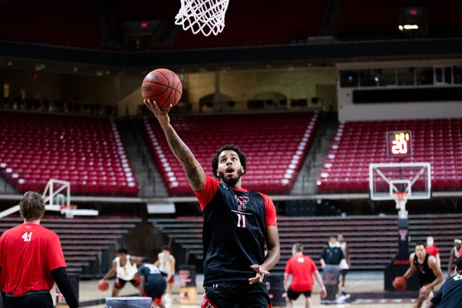 Junior guard Kyler Edwards is the top returning scorer on the Texas Tech basketball team. The Red Raiders began official practice for the season Wednesday at United Supermarkets Arena.