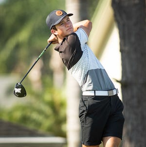 Lake Wales' Cade Scarborough matched teammate Clay Jacobs with a 72 for the top score at the 2A-8 Boys Golf Tournament on Wednesday.