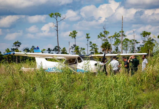 No one was injured when a small plane made a hard landing Wednesday morning just north of The Acreage in a wildlife management area, a Palm Beach County Sheriff's Office spokeswoman said. The white Cessna came down at about 10 a.m. on a dirt access road that runs along the south side of the J.W. Corbett Wildlife Management Area, just north of The Acreage near 94th Street North and 190th Street North. See the story on Page BX.
