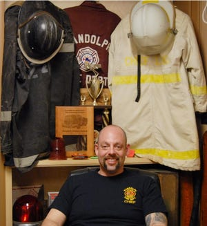 Randolph Township fire chief Mike Lang in 2019