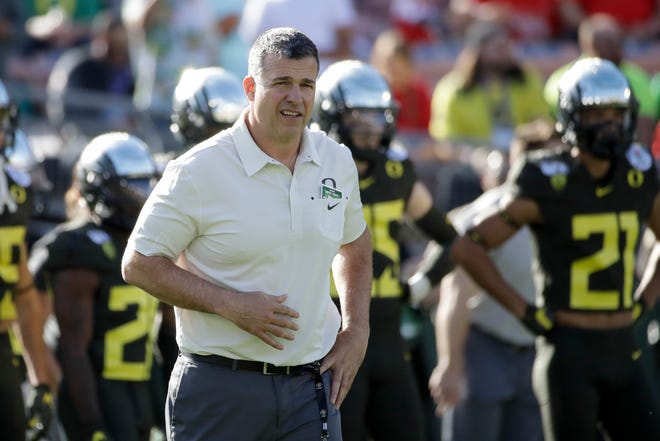 Oregon football coach Mario Cristobal has the third-ranked recruiting class for 2021 and the top class in the Pac-12 Conference according to 247Sports.