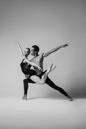 Katelyn May and Ricardo Rhodes are among a limited number of Sarasota Ballet dancers featured in the company's first all-digital program, highlighting pieces by Sir Frederick Ashton.